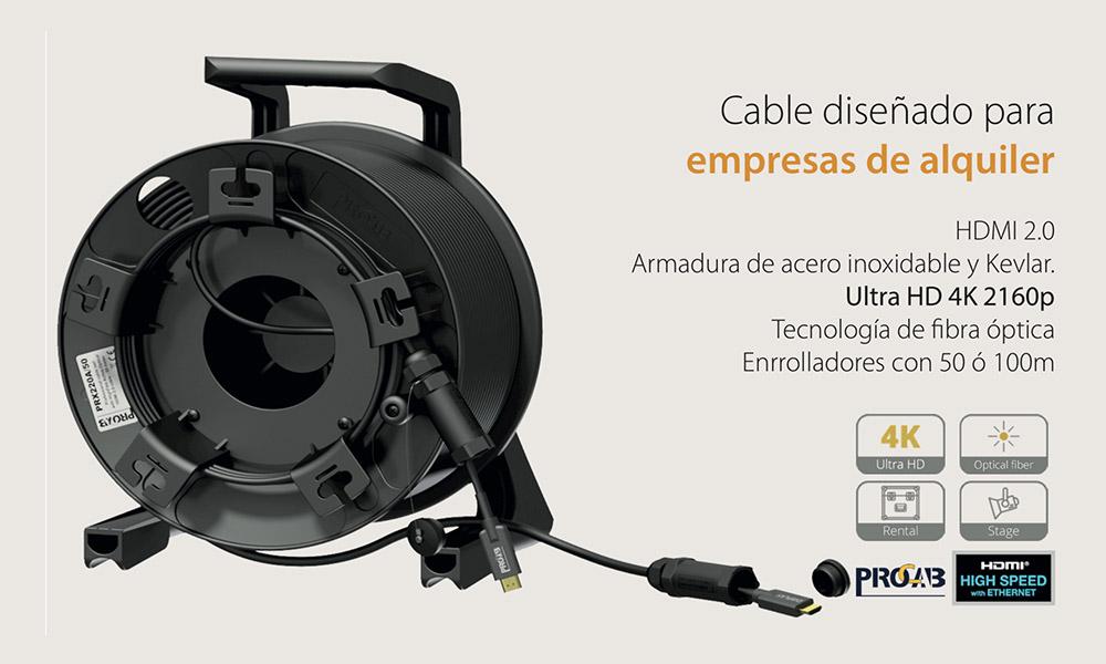 Enrolladores de cable Ultra HD 4K 2160p de Procab