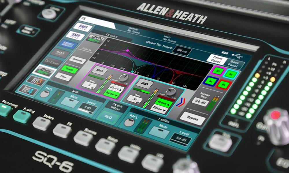 Nuevas prestaciones para la versión 1.4 de SQ de Allen & Heath