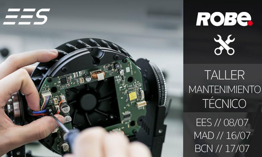 EES anuncia su primera taller de mantenimiento técnico de Robe