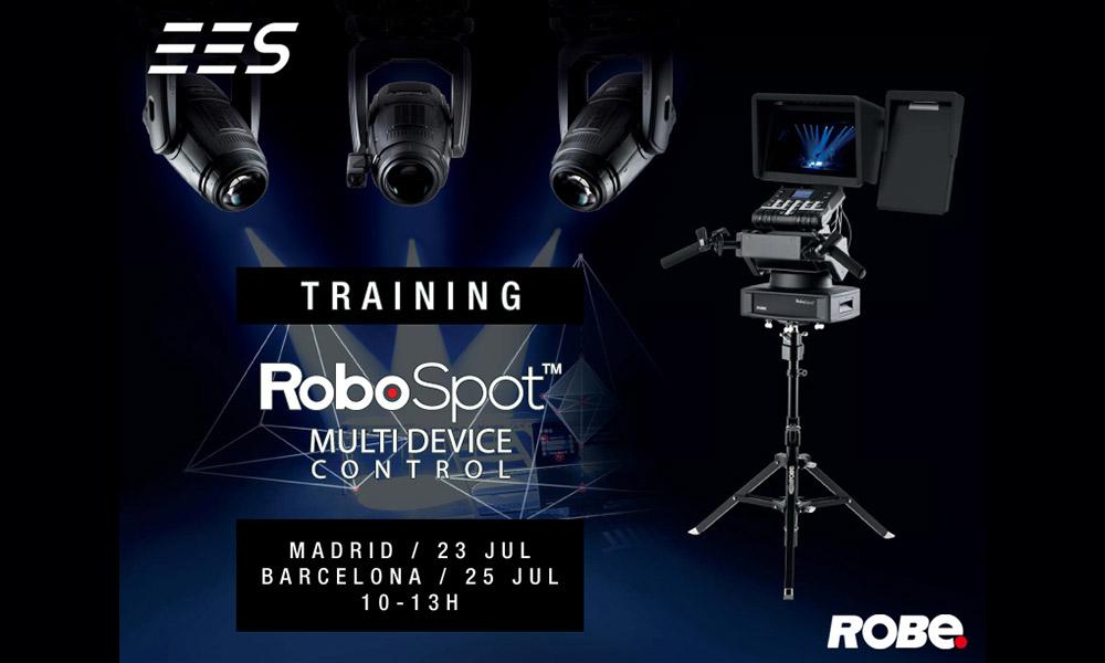 EES organiza el training del sistema de control remoto Robospot de Robe