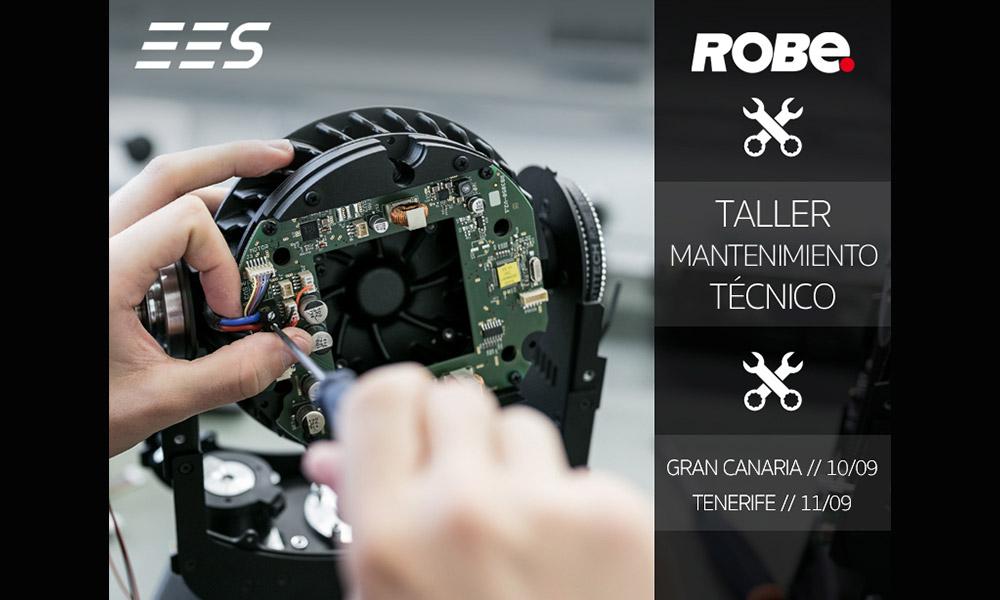 El taller de mantenimiento técnico de Robe organizado por EES pone rumbo a Canarias