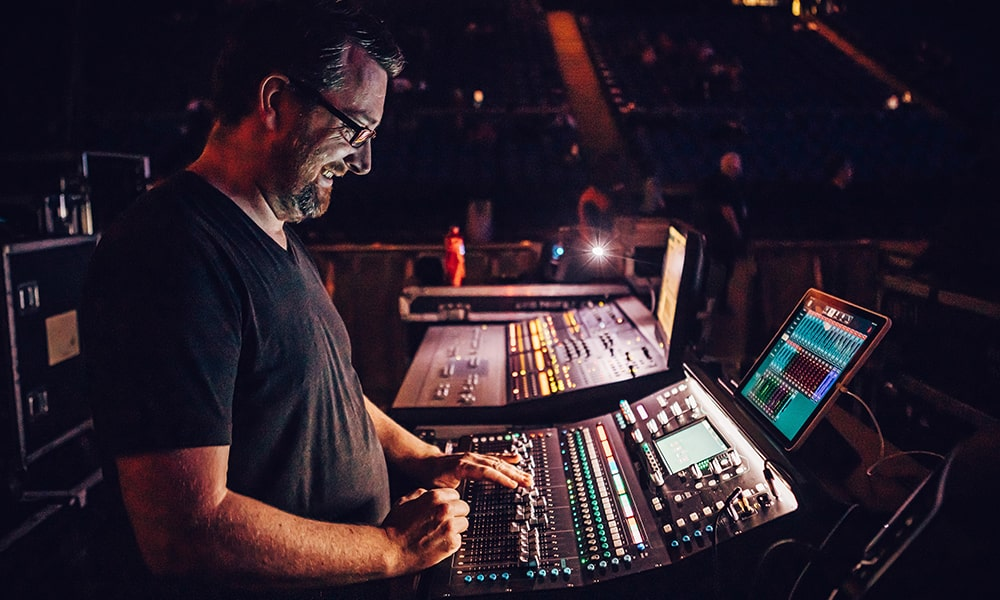 La consola SQ de Allen & Heath, en el O2 Arena con Brass Against