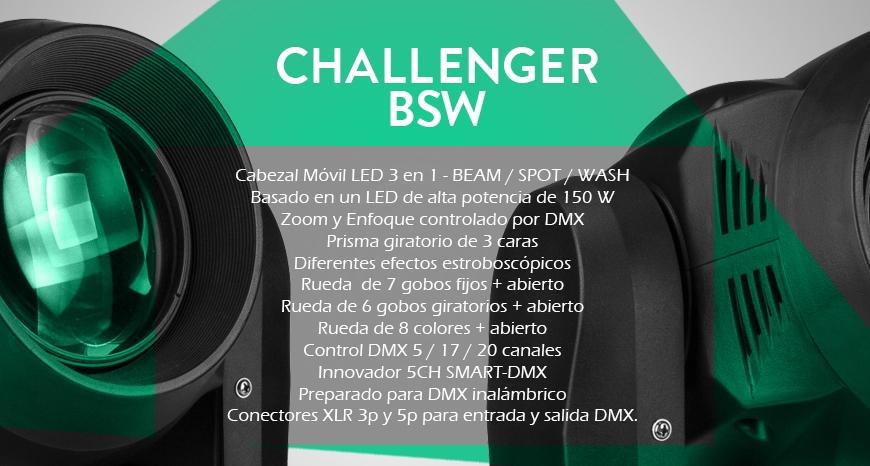 Cabeza móvil híbrida Challenger BSW de JB Systems