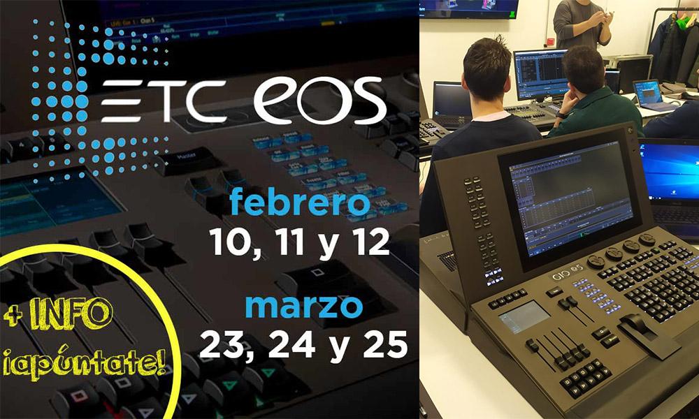 Nuevos cursos de control de iluminación ETC EOS para 2020