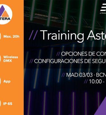 Training Astera: Opciones de control y configuraciones de seguridad. ¡Conéctate!