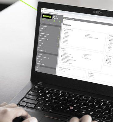 Shure lanza un portal tecnológico para acceder fácilmente a toda la información técnica sobre productos