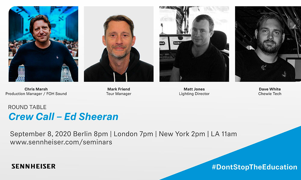 Sennheiser organiza una mesa redonda con el equipo de la gira de Ed Sheeran para el 8 de Septiembre