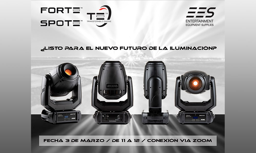 EES se adentra en el futuro de la iluminación con Forte y Spote, los últimos lanzamientos de Robe