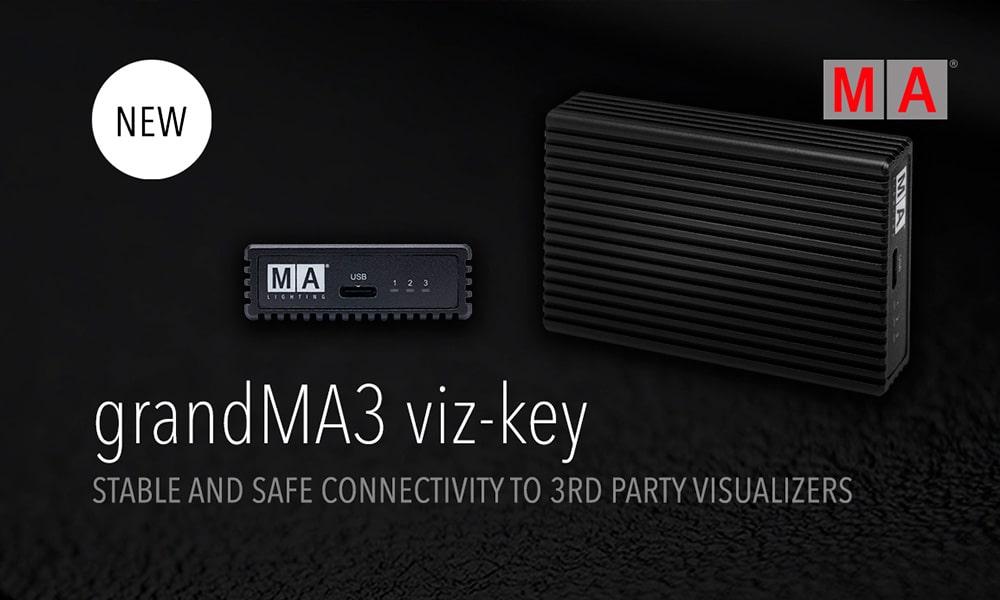 Viz-key de GrandMA3 y Wysiwig ahora compatibles