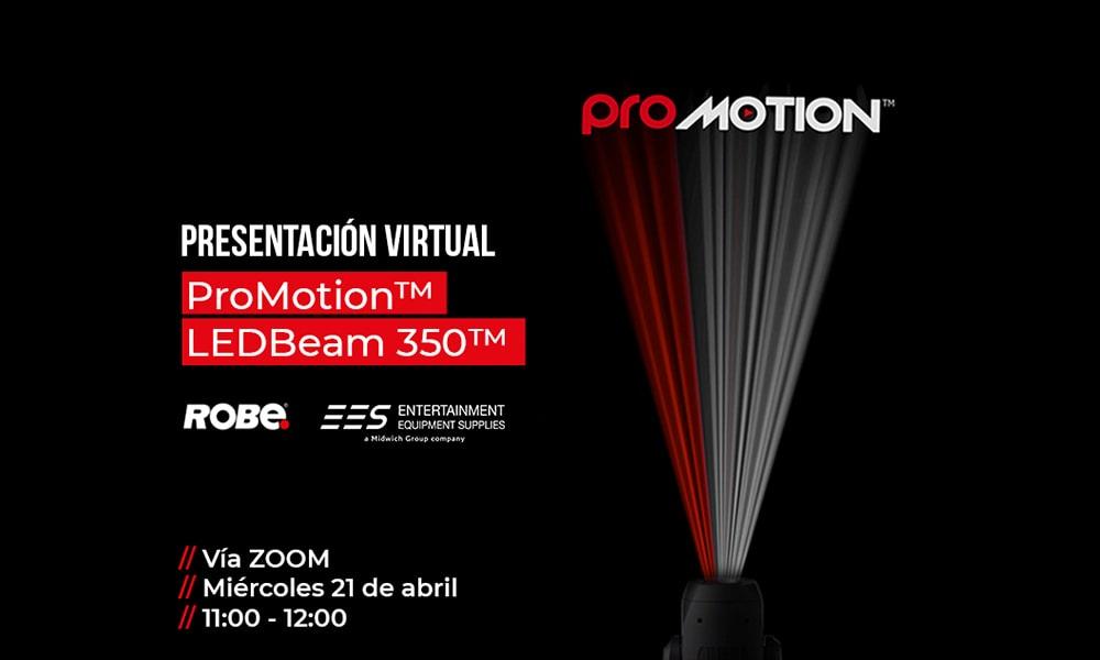Efectos y proyecciones de película: presentación virtual del nuevo ProMotion de Robe, de la mano de EES