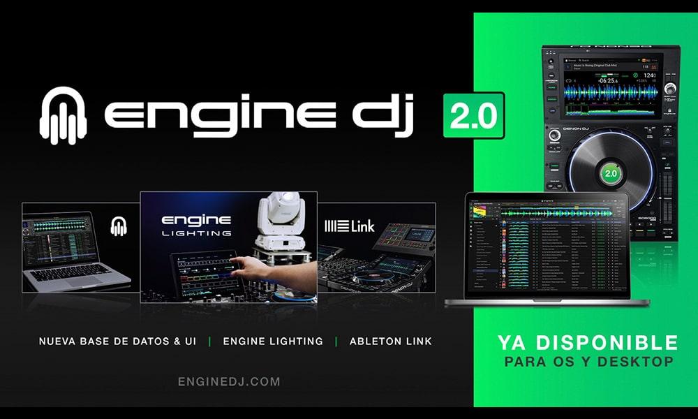 Engine DJ® 2.0 presenta más novedades como Ableton Link, control de iluminación integrado en los dispositivos y más